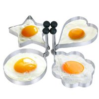 Wholesale 1Pcs Multi Usage Kitchen Cooking Tool Stainless Steel Egg Mold Pancake Mold Ring Cooking Fried Egg Ring Shaper Mold Random Style