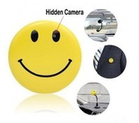 Sourire vidéo Prix-Mini HD Smiley Smile Broche Visage Broche caché Sténopé caméra espion Cam Video Cam DVR enregistreur CCTV caméra DV DVR