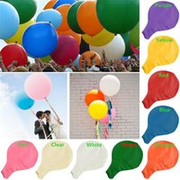 round table - New Arrivals Inch cm Large Round Latex Balloon Wedding Birthday Party Events Festivals Decorations Supplies CX351