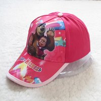 Wholesale 2015 fashion Masha and Bear cartoon baseball cap children adjustable sun hats baby girls sports snapback hat kids caps HX