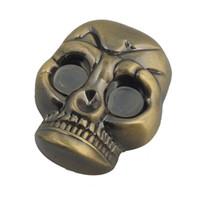 halloween skeleton - Metal Halloween Skeleton Mask Shaped Grinder for Herb Tobacco
