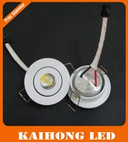 1w - 1W W Mini LED downlight white round ceiling spot lights V V led panel light Recessed Aluminum lamp Warm White