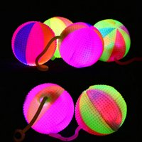 Wholesale FLASHING LIGHT UP BABY FINGER BALLS LED Bounce BALL Sounding Toys Kids Gift Children Day Finger Toys
