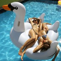 inflatable toy - 2015 Fashion Summer Swimming Pool Kids Giant Rideable Swan Inflatable Float Toy Raft