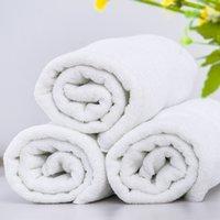 Wholesale CM New White cotton bath towels for hotel accept custom logo DHL Fedex