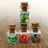 Wholesale New Arrival Set Dollhouse Miniature accessories DIY Various Mini Fruit Bottles Canned Unique design