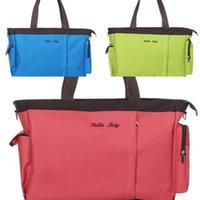 Wholesale Fashion Environmental The Large Capacity Mummy Bags Shoulder Handbags Multi Function Portable Diaper Bags Infanticipate Pregnant Women Bags