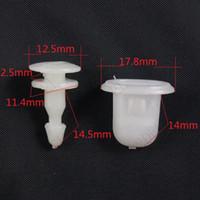 Wholesale White Nylon Fender Guard plate snap Double bottom Rivet Fastener Retainer clip for Nissan Car Accessory