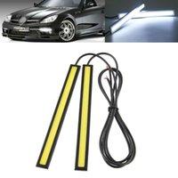 Cheap New Hot 2x 17cm White 12V LED COB Car Auto Vehicle DRL Driving Daytime Running Light free shipping