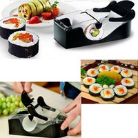 Wholesale New Prefect Easy DIY Sushi Maker Roller equipment perfect roll mold set for making Roll Sushi with color box kitchen accessories