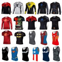 Wholesale Super hero Captain America Marvel Comics Costume Cycling Tee Sport T Shirts Short Sleeve Bicycle Jersey long sleeves quick dry S XXXXL DHL