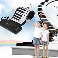 Wholesale Portable USB Handscroll Piano Key Stereo Keyboard Midi Interface Extension Roll Up Piano Kids Musical Instrument Toy UK Plug