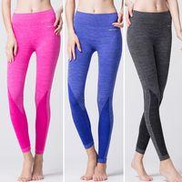 Wholesale 2015 Women Sport Fitness Yoga Clothing Sports Pants Legging Slim Workout Lulu Slimming Gym Clothes Running Leggings For Female