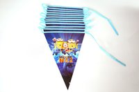 Wholesale 6 Styles M Princess Mr Minions Kid Frozen Birthday Party Supplies Decoration Supplies Flag Pennant Hang Flags Christmas Decoration Free DHL
