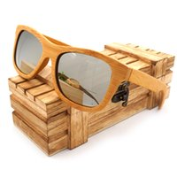 bamboo mirrors - Vintage Bamboo Wooden Sunglasses Handmade Polarized Mirror Coating Lenses Eyewear in Wood Box
