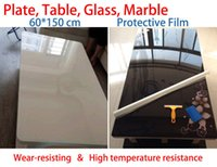 adhesive for marble - Self adhesive transparent protective film on the plate Wear resisting High temperature resistance for table furniture marble