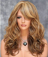 Wholesale Harajuku Cosplay Wig Party Women Fashion Long Wavy Curly Costume Synthetic Hair Sexy Blonde Wigs Female Peruca Pelucas