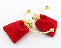 Wholesale Red Velvet Drawstring Pouches Jewelry Gift Bags cm x cm