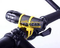 bandages clip - 500pcs Bike Bicycle LED Flashlight Light torch Holder Bracket Clip Silicone Elastic Strap Bandage Cycling Grip Mount Lights Holders