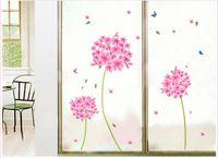 Wholesale Home Room Decor Wall Stickers Tv Pink Hydrangea Romantic Flower Balls Wall Mural Art pink flower ball Vinyl wall paper d watch