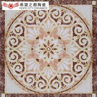 Wholesale Gilded ceramic tile living room home tile puzzle variety of optional