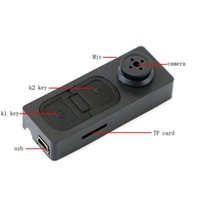 Wholesale 16GB Mini HD Spy Button DV Video Recorder Mini Hidden Camera with Vibration function and TF Card Slot GB Shirt Button Camera