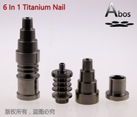 vip - Abos VIP mm in adjustable Highly Educated Grade Titanium Domeless E Nail Nail for mm or mm Enail Coil