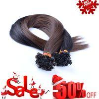 "Cheap Flat TIP HAIR hair extensions Indian Remy Human hair 18"" 20"" 22"" 24"" 100g lot 1g per piece"