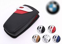Wholesale Hot Luxury Genuine Leather Car Key Wallet Ring Holder Bag Cover for BMW X1 X3 X6 Z4 M3 Keychain Case with retail package