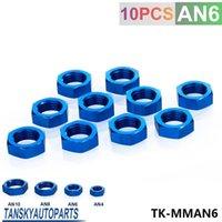 anodized fittings - Tansky High Quality AN AN6 BULKHEAD BLUE ALUMINUM ANODIZED NUT SEALING LOCKING FITTING ADAPTER JDM TK MMAN6