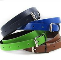 Wholesale Cute Candy Color PU Leather Belt Alloy Belt Buckles Children Fashion Belts For Kids Women Best Gift