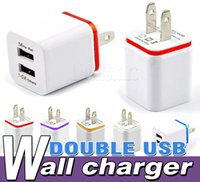 Wholesale For iPhone S Plus Colorful US Plug USB Wall Charger AC Power Adapter Home Charger V A Colorful wall charger for iphone6s GALAXY s6