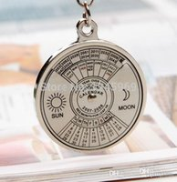 Free shipping antique perpetual calendar - A24 Super Perpetual Calendar Unique Metal Key Chain Ring Years Keyring KeyChain T0924 P