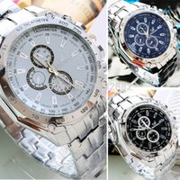 ice watches - Stylish Sports Men Stainless Steel Business Quartz Analog Wrist Watch Dropshiping ice perpetual watches automatic luxury
