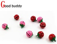 Wholesale New Special MM Strawberry pet bell Charm Pet Supplies copper bell cat dog bell
