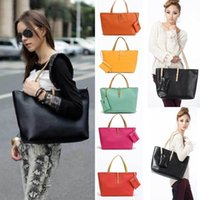 Shoulder Bags korea fashion - 2014 New Korea Fashion Style Women s ladies PU Leather Handbag and pruse Lady Tote Shoulder Bags H10987