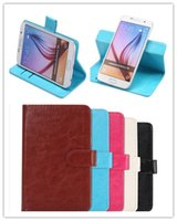 Wholesale 360 Rotating Universal Wallet Leather Magnetic Flip Case Stand w Card Holder for Samsung Galaxy S6 edge Note iphone S PLUS
