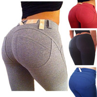 Wholesale 30pcs Plus Size Leggings Slim Fitness Women Hip Push Up High Waisted Elastic Legging Pants Sexy Pencil Stretch Jeans Skinny Jeggings LA34