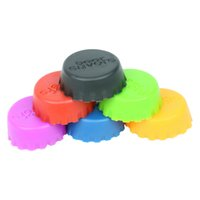 Wholesale 6pcs Creative Silicone Beer Cover Beer Fresh keeping Bottle Cap Assorted Color