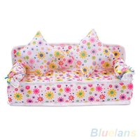 Wholesale Mini Furniture Flower Sofa Couch Cushions For Doll House Accessories U8J BU
