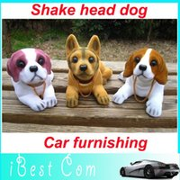 Wholesale hot Drop shipping Lovely Shake head dog Car furnishing articles car emblem Car Accessories hot selling
