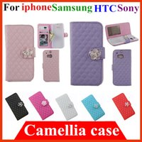 Cheap Camellia Cover sony Z2 Best iphone 6 plus Wallet case
