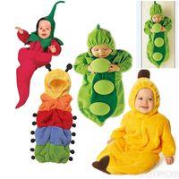 Wholesale Newborn Baby sleeping bag styles pea banana chilli Pumpkin sleeping bags