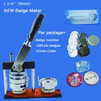 Wholesale quot mm badge Press Machine Adjust Circle Cutter sets plastic Badge Material