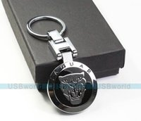 Wholesale Male Fashion Metal Keychain Jaguar Car Key Chain Pendant Ring Gift Case Brand New Best Presents