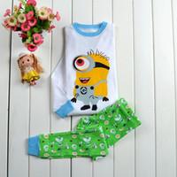 Wholesale Children Clothing Pig Cotton Sleepwear Boys Hello Kitty Plane Pyjamas Girls Princess Sets Kids Clothes Suit Pajama