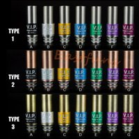 vip - VIP Drip Tips Stainless Steel Acrylic PMMA Mouth Piece Fashion VIP Design Drip Tip for KangerTech Innokin iClear Clearomizer Atomizer