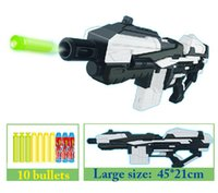 Cheap Simple package large size 45*21cm new plastic pistol air toy gun with soft bullet shooting toys for children gun soft bullet