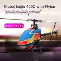 Wholesale Global Eagle C Helicopter with stabilizer bar RTF Set W Hand carry case CH RC kv Brushless Motor A ESC