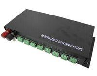 Wholesale to North America channel dmx rgb controler dmx decoder input DC12V V used for dmx group or pixel control of led lights